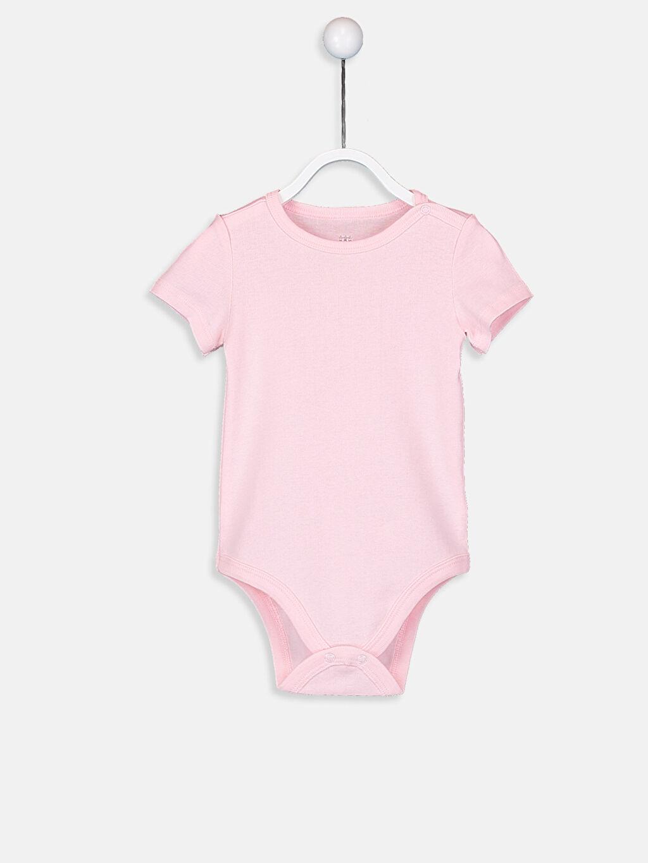 Pembe Kız Bebek Pamuklu Çıtçıtlı Body 9SP319Z1 LC Waikiki