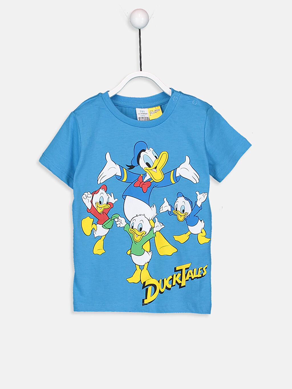 LC Waikiki Mavi Erkek Bebek Donald Duck Desenli Tişört ve Şort