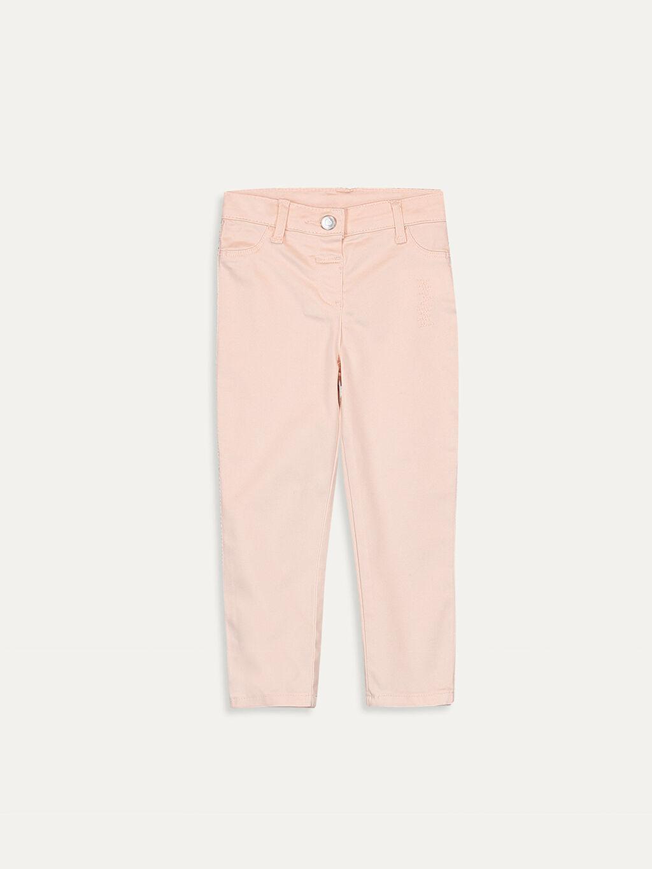 Pembe Kız Bebek Gabardin Pantolon 9SQ620Z1 LC Waikiki