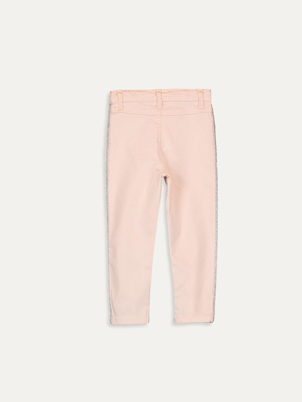 %88 Pamuk %8 Polyester %4 Elastan Düz Gabardin Aksesuarsız Düz Normal Bel Astarsız Pantolon Kız Bebek Gabardin Pantolon