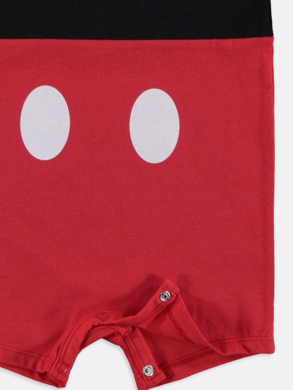 Erkek Bebek Erkek Bebek Mickey Mouse Baskılı Tulum ve Bere