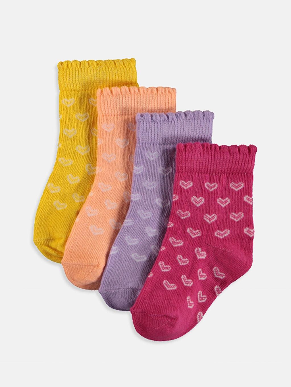 Sarı Kız Bebek Soket Çorap 4'lü 9SR634Z1 LC Waikiki