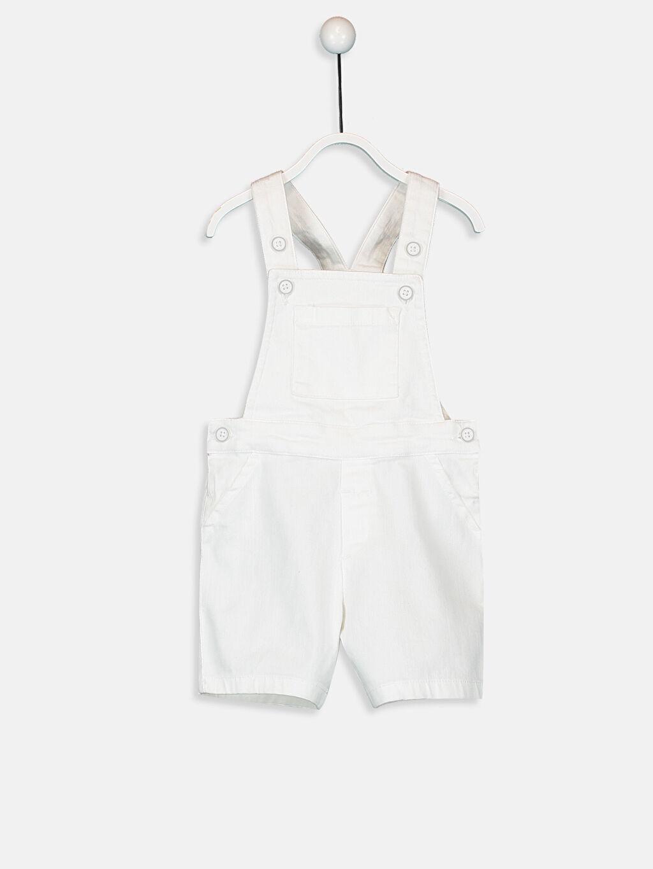Beyaz Erkek Bebek Şort Salopet 9SR964Z1 LC Waikiki