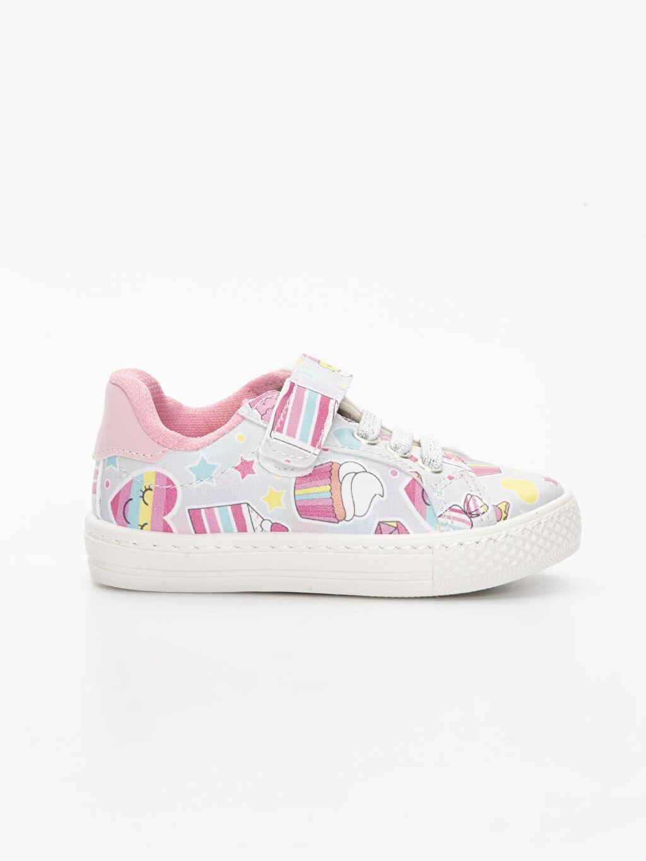 Gri Kız Bebek Cırt Cırtlı Sneaker Ayakkabı 9ST021Z1 LC Waikiki