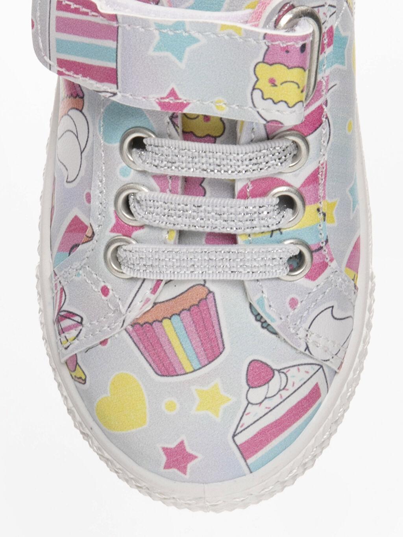LC Waikiki Gri Kız Bebek Cırt Cırtlı Sneaker Ayakkabı