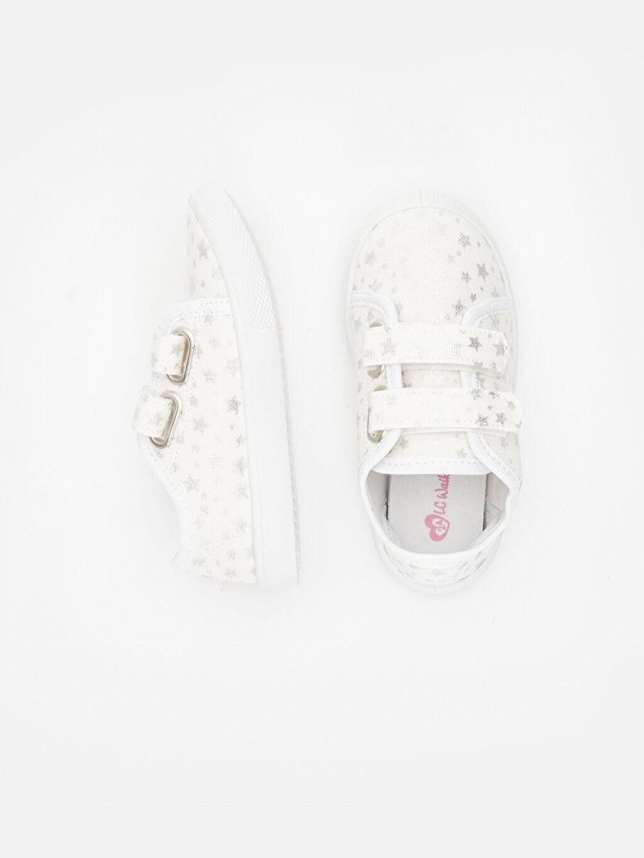 %0 Tekstil malzemeleri (%100 poliester) Kumaş Astar Sneaker Kısa(0-2cm) Cırt Cırt Kısa Kız Bebek Cırt Cırtlı Spor Ayakkabı