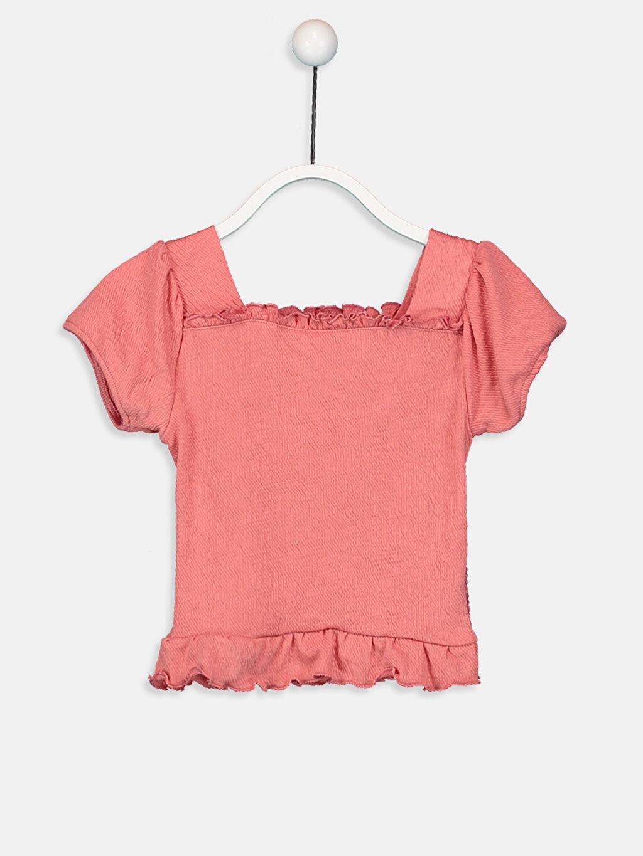 %99 Polyester %1 Elastan Düz Süprem Tişört Kayık Yaka Kız Bebek Tişört
