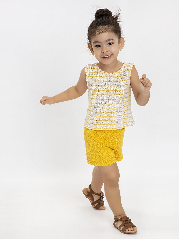 Sarı Kız Bebek Atlet ve Şort 9ST748Z1 LC Waikiki