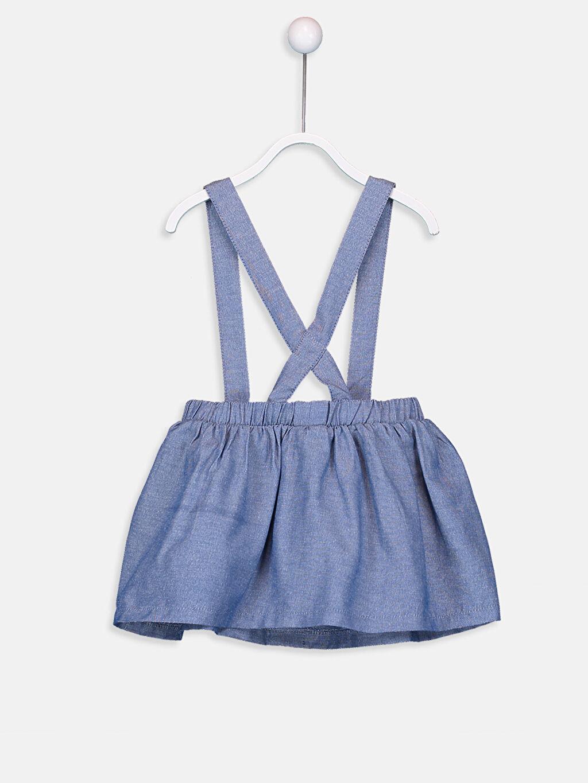 %55 Pamuk %45 Polyester Düz Kız Bebek Pamuklu Etek