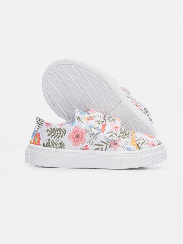 Kız Bebek Kız Bebek Çiçek Desenli Ayakkabı