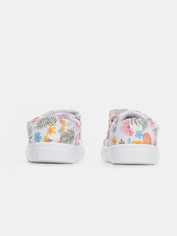 Kız Bebek Çiçek Desenli Ayakkabı
