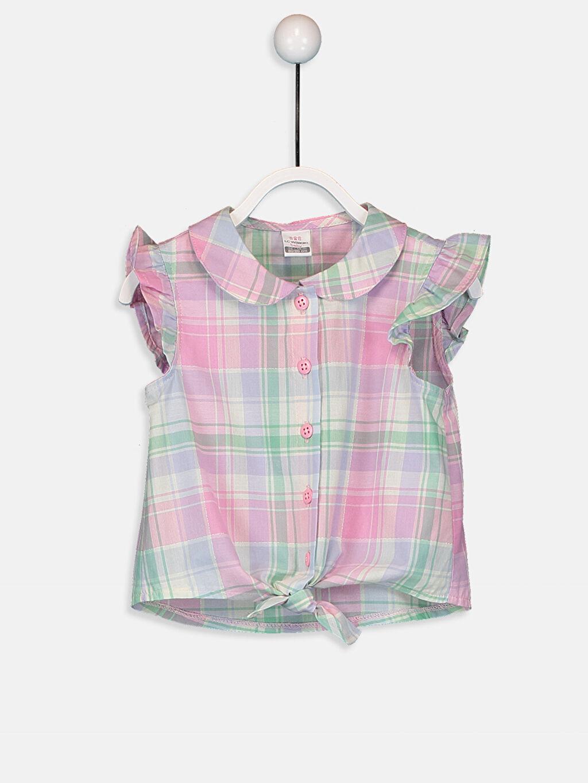 Pembe Kız Bebek Ekose Poplin Gömlek 9SV030Z1 LC Waikiki