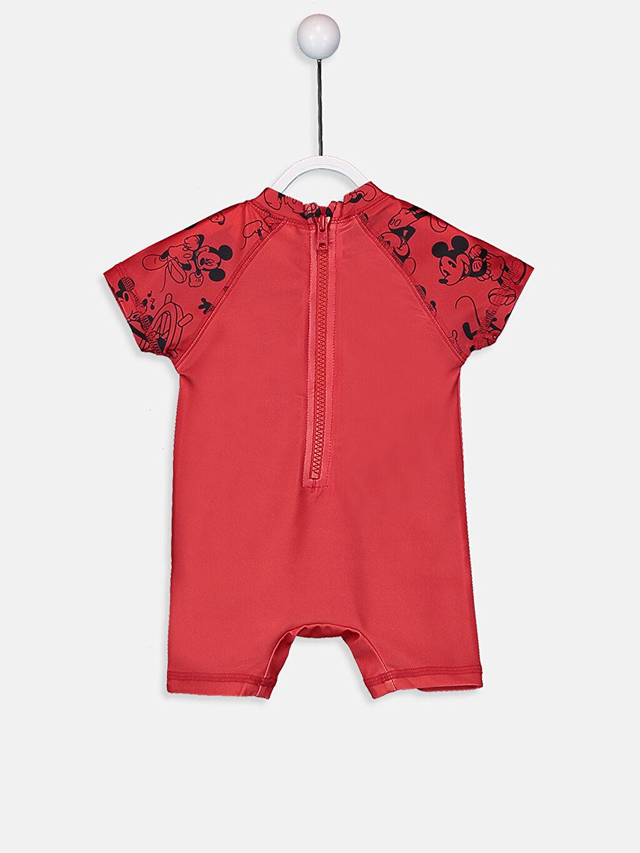 %85 Polyester %15 Elastan %100 Polyester  Erkek Bebek Mickey Mouse Baskılı Tulum Yüzme Giyim