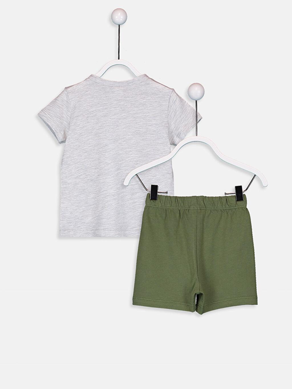 %98 Pamuk %2 Polyester %100 Pamuk Süprem Standart Pijama Takım Erkek Bebek Pijama Takımı