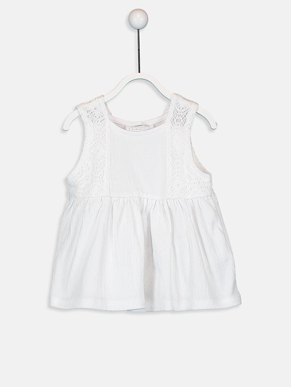 Beyaz Kız Bebek Pamuklu Atlet 9SY744Z1 LC Waikiki