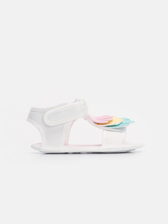 Beyaz Kız Bebek Cırt Cırtlı Sandalet 9SA392Z1 LC Waikiki