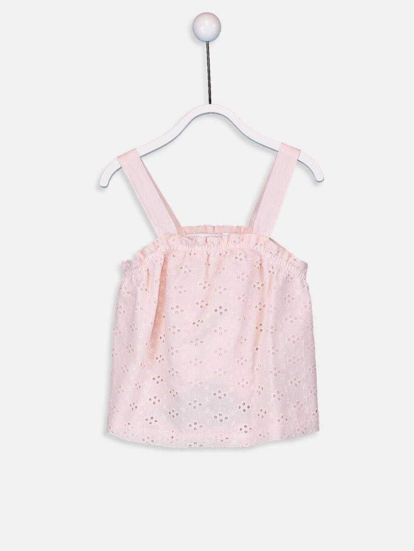 Pembe Kız Bebek Çizgili Bluz 9SA552Z1 LC Waikiki