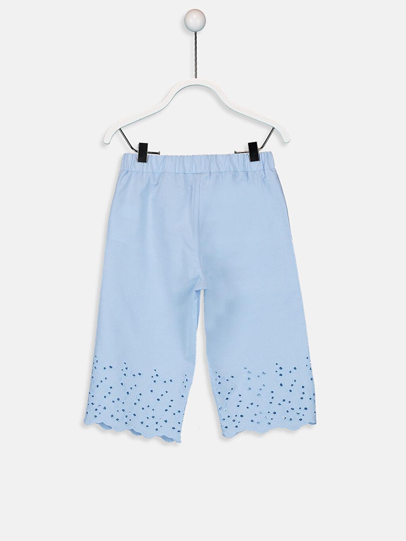%100 Pamuk Standart Normal Bel Pantolon Kız Bebek Poplin Pantolon