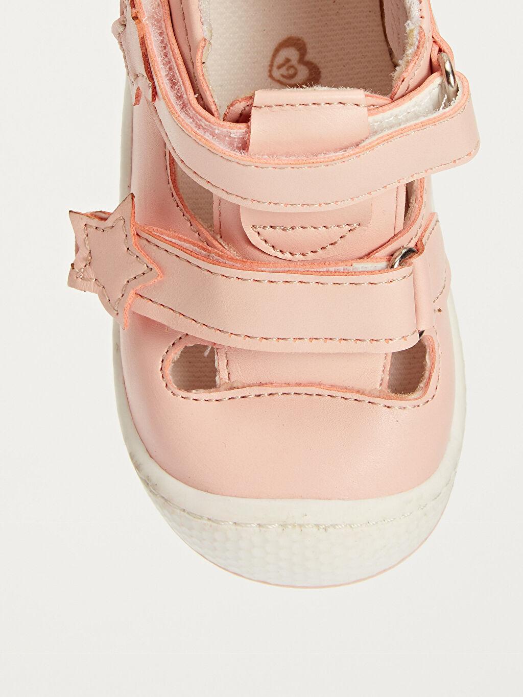 Pembe Kız Bebek İlk Adım Cırt Cırtlı Ayakkabı