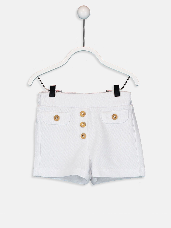 Beyaz Kız Bebek Pamuklu Şort 9SA680Z1 LC Waikiki