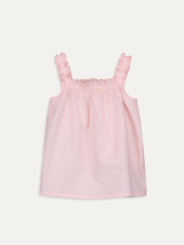Pembe Kız Bebek Poplin Bluz 9SB080Z1 LC Waikiki