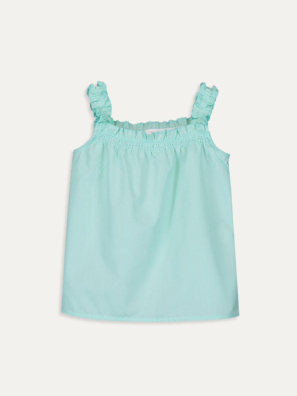 Yeşil Kız Bebek Poplin Bluz 9SB080Z1 LC Waikiki