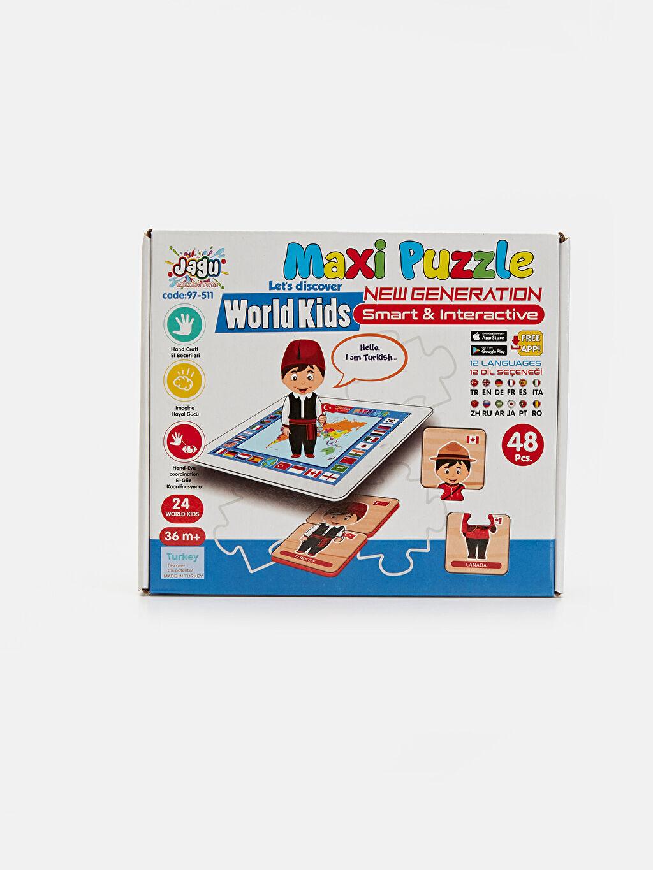 Beyaz Eğitici Oyuncak Puzzle        9SC821Z1 LC Waikiki