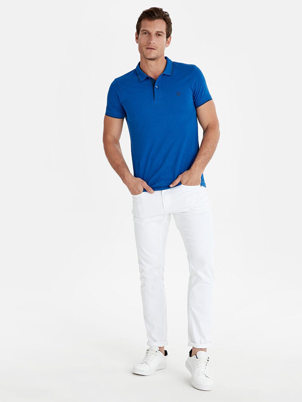 %100 Pamuk Polo Yaka Basic Kısa Kollu Pike Tişört