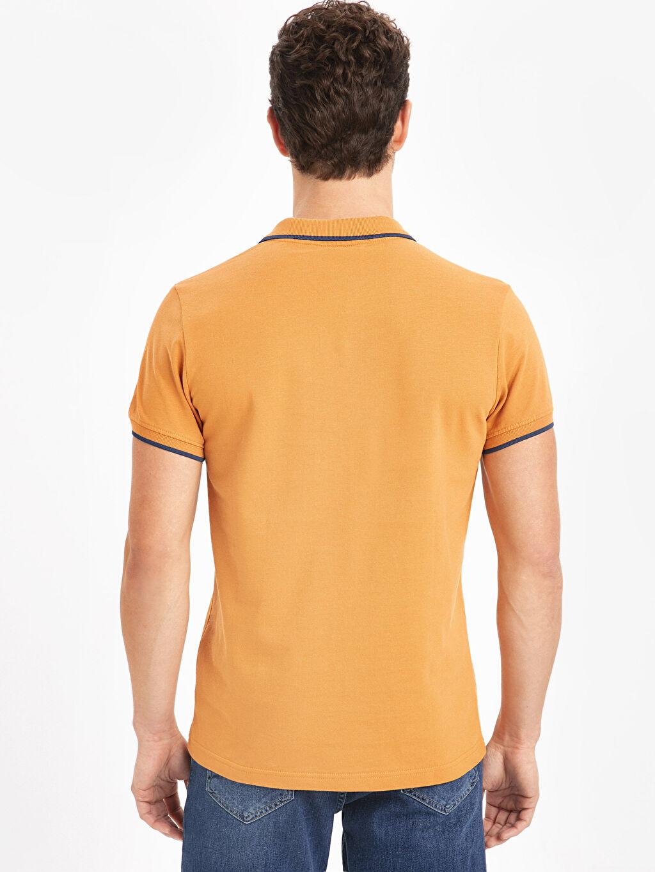 %100 Pamuk Düz Dar Tişört Pike Polo Yaka Kısa Kol Polo Yaka Basic Kısa Kollu Pike Tişört
