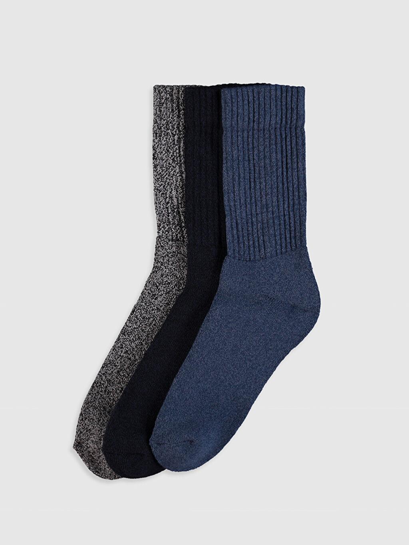 Lacivert Soket Çorap 3'lü 9W2044Z8 LC Waikiki