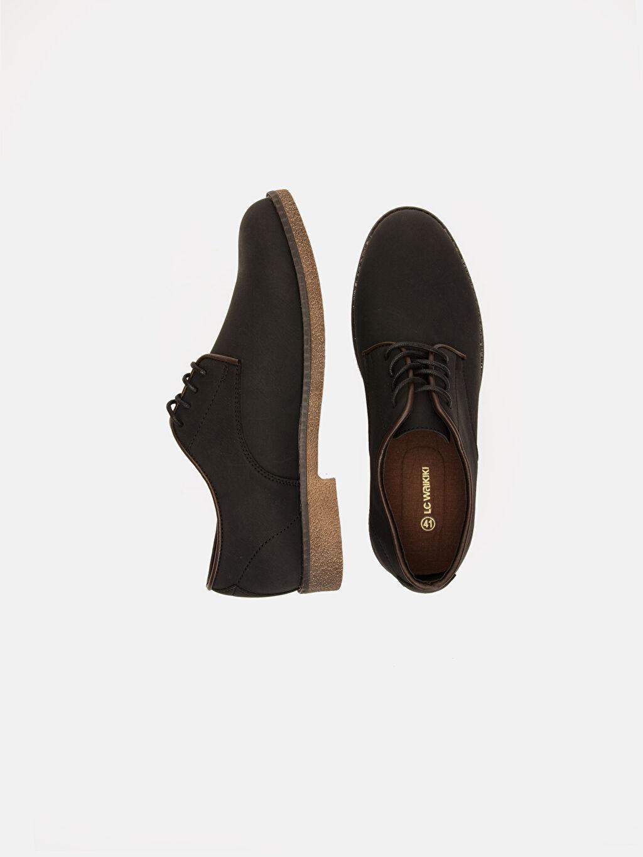 Diğer malzeme (pvc) Klasik Ayakkabı Standart Bağcık Günlük Düz Erkek Klasik Derby Ayakkabı