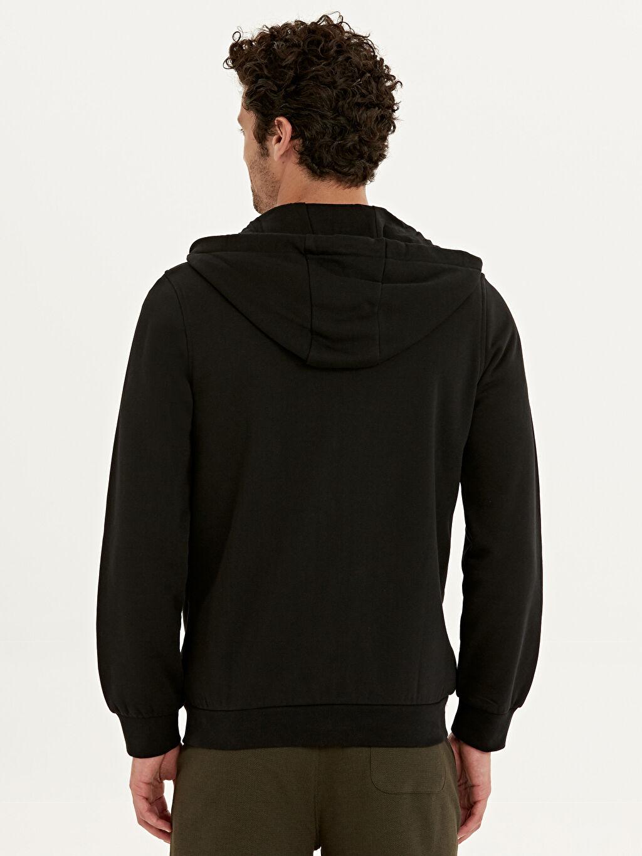 %67 Pamuk %33 Polyester  Kapüşonlu Basic Sweatshirt