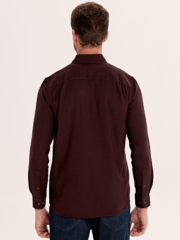 Erkek Regular Fit Uzun Kollu Gabardin Gömlek