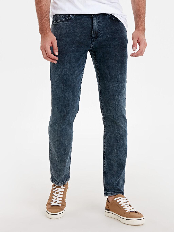 %99 Pamuk %1 Elastan Beş Cep Jean Standart Normal Bel 779 Regular Fit Jean Pantolon