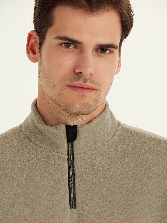 Erkek Aktif Spor Polar Sweatshirt