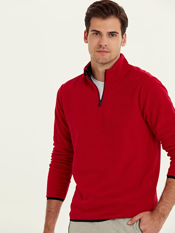 Kırmızı Aktif Spor Polar Sweatshirt 9W6891Z8 LC Waikiki