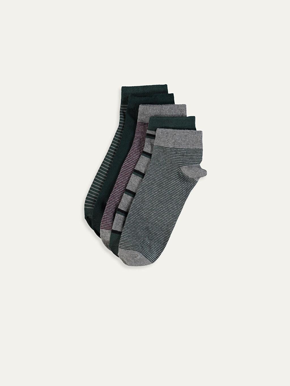 Çok Renkli Patik Çorap 5'li 9W7147Z8 LC Waikiki