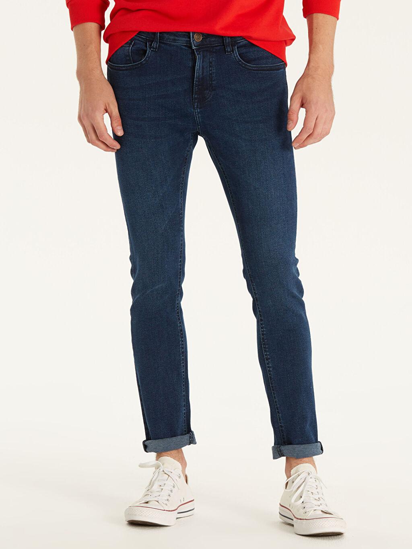 %98 Pamuk %2 Elastan Normal Bel Beş Cep Jean Ekstra Dar 760 Skinny Fit Jean Pantolon