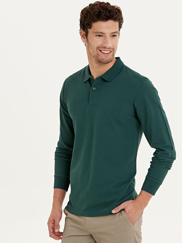 Erkek Polo Yaka Uzun Kollu Basic Tişört