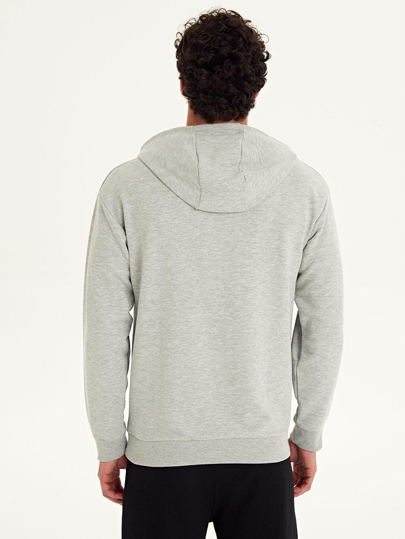 Erkek Aile Koleksiyonu Kapüşonlu Baskılı Sweatshirt
