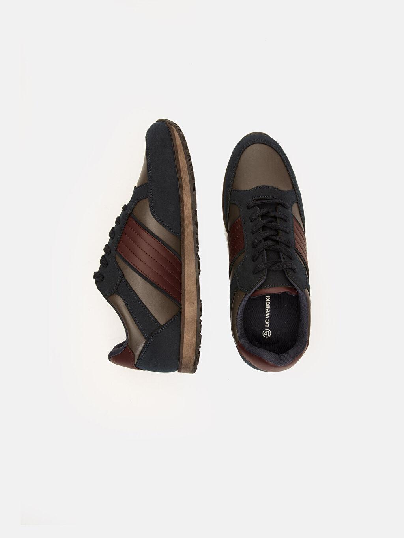 Diğer malzeme (pvc) Penye Astar Düz Sneaker Standart Bağcık Günlük Erkek Günlük Spor Ayakkabı