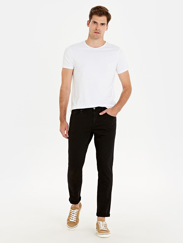 Siyah 750 Slim Fit Jean Pantolon 9WG088Z8 LC Waikiki