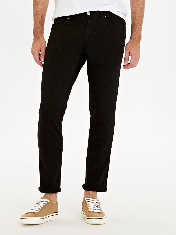 %98 Pamuk %2 Elastan Normal Bel Dar Jean 750 Slim Fit Jean Pantolon