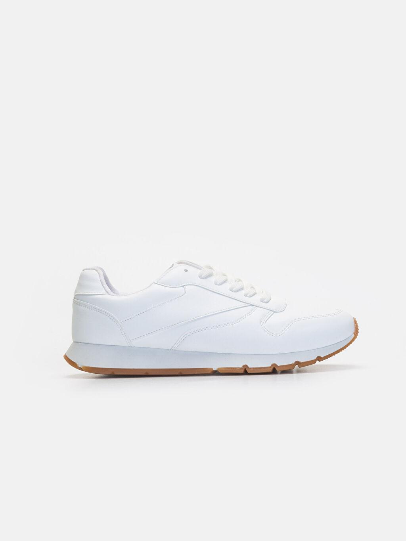 Beyaz Erkek Bağcıklı Günlük Ayakkabı 9WG144Z8 LC Waikiki