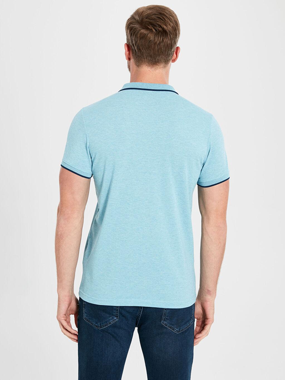 %50 Pamuk %50 Polyester Polo Yaka Basic Pike Tişört
