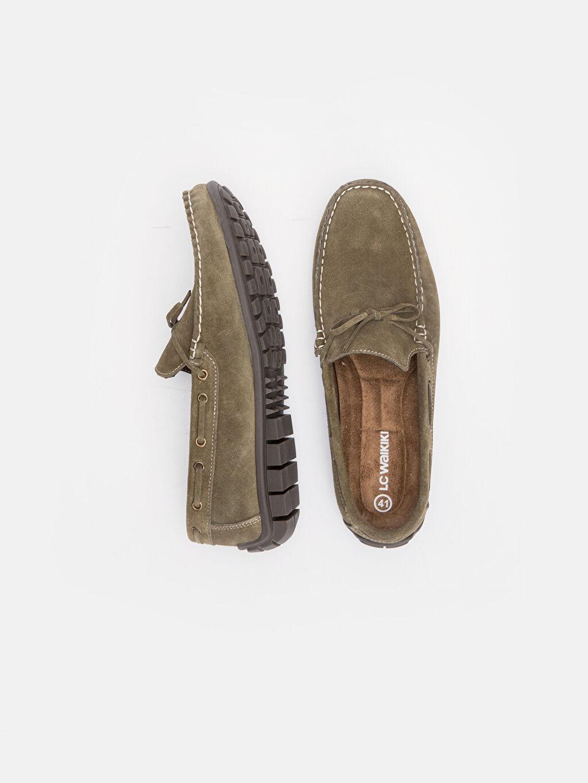Deri Klasik Ayakkabı Standart Deri Esnek Günlük Bağcıksız Düz Erkek Deri Loafer Ayakkabı