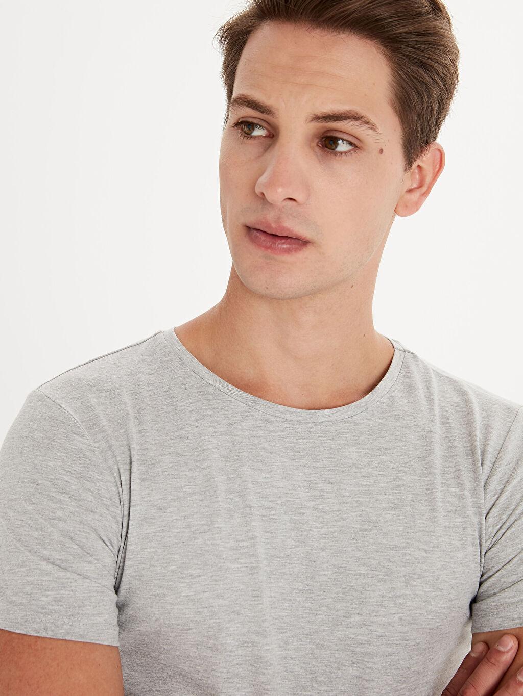 Erkek Bisiklet Yaka Basic Kısa Kollu Tişört