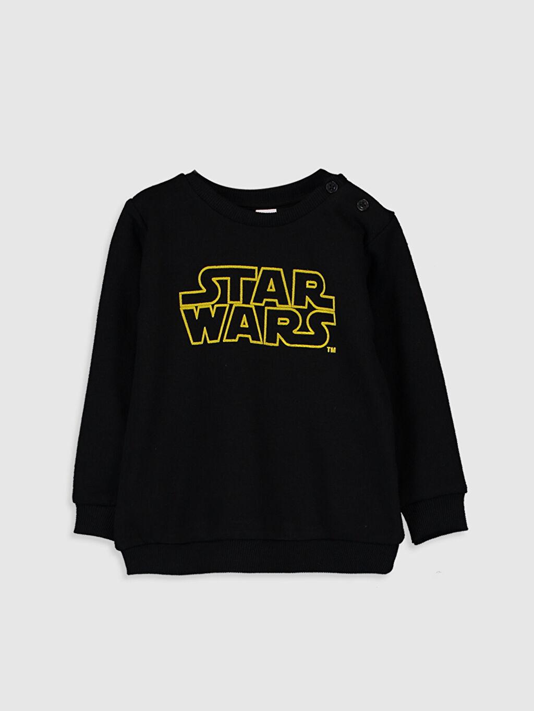 Siyah Erkek Bebek Star Wars Baskılı Sweatshirt 9WM830Z1 LC Waikiki
