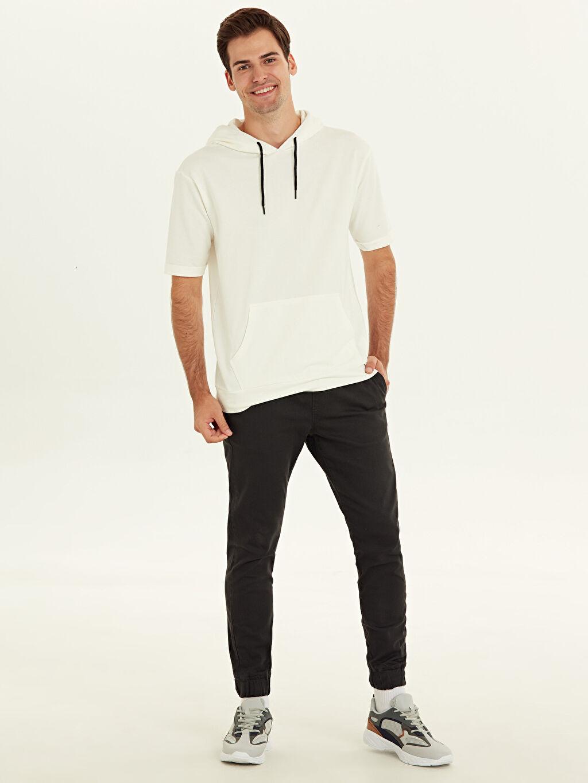 Antrasit Slim Fit Bilek Boy Jogger Pantolon 9WO374Z8 LC Waikiki