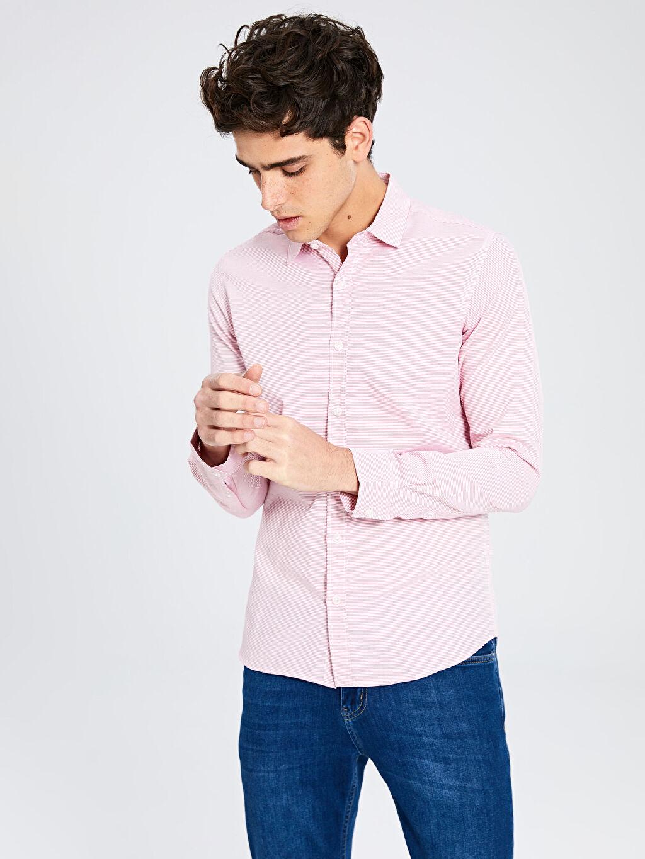 Erkek Ekstra Slim Fit Uzun Kollu Gömlek